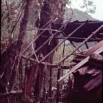 Structure d'une cabane de pêcheurs dans les canaux