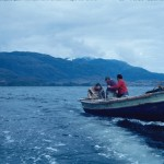 Le bateau du scaphandrier Señor Jara