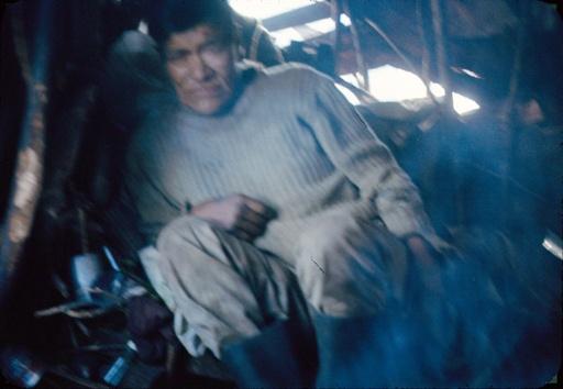 Panchote dans sa hutte