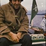 Christos Clairis à bord de « Pata pata », le bateau des carabiniers
