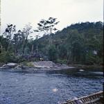 Monticule de coquilles de moules dans un campement de pêcheurs