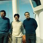 Christos Clairis, José Tonko et Anelo Aguayo au bord de la Calypso